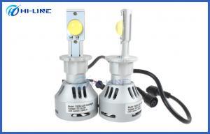 China Silver 6500k Cree LED Headlight Bulbs / Automotive Headlight Globes for Universal Cars on sale