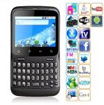 Quad Band Dual Cards Dual Standby Camera WIFI Color TV Bluetooth Android v2.2+ OS 3.5-inch