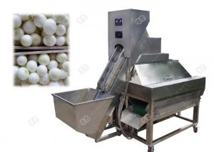 China Electric Onion Peeling And Cutting Machine Rapid Processing Peeling Rate 70-80 pcs / Minute on sale