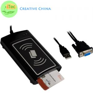 China PC and Mobile NFC Card Reader RS232 Contact and Contactless Dual interface Card Reader on sale