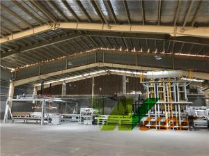 China Synchronous Short Cycle Melamine Press Machine , Laminate Flooring Production Line on sale