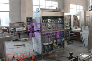 China Automatic Piston Type Liquid Filler Equipment Ketchup / Mayonnaise 6000 - 8000BPH on sale