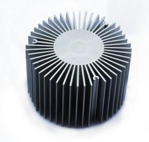 China Led Aluminium Heatsink Extrusions , Silvery / Black Anodized Extruded Aluminium Profiles on sale