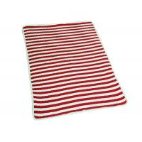 "Environmentally Friendly Polyester Baby Blanket Red Stripe 48*48"" Weight"
