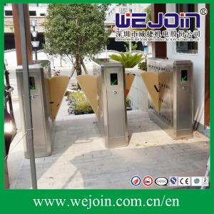 China Entrance Control Flap Gate Turnstile, Electronic flap barrier with anti-reversing passing Flap  Barrier, on sale