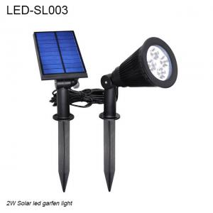 China 2W IP65 waterproof outdoor solar LED light & Solar led garden light on sale