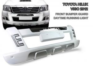 China Durable ABS LED Light Front Bumper Guard for TOYOTA HILUX VIGO 2012 - 2014 on sale