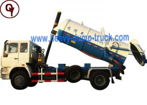 China Sinotruk 10 - 12m3 Vacuum Sewage Suction Truck 4x2 Drive Type for Sewer Cleaning on sale