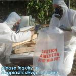LDPE Asbestos Bags Transparent / Clear - Plain or Printed, Printed Asbestos Bag, Asbestos waste Bag, Asbestos Colour Fil