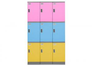 China 2 Tier Abs Plastic Locker Easy Assembled Eco Friendly Non - Toxic Material on sale