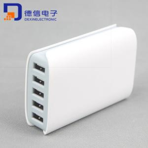 China New Product 5Ports 5V/5A USB Charger for Samsung and iPhone (LCK-MU13) on sale