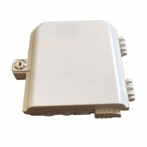 China White / Black FTTH Termination Box 8 / 16 / 32 Core With PC + ABS Material on sale