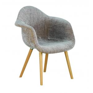 China plastic chair italy eames chair wood legs fabric arm chair PC081 on sale