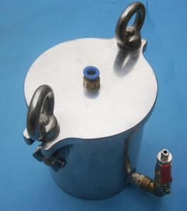China Red Glue / Solder Past Dispensing Pressure Vessel 5L Stainless Steel Pressure Container on sale