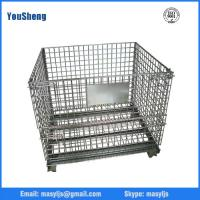 Industrial Steel Heavy-duty Rigid Wire Mesh Container Type and Heavy Duty Scale foldable Wire Mesh Roll Cage Container