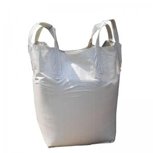 China Breathable Food Grade Bulk Bags , Side Discharge PP Woven Jumbo Bags on sale