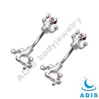 Alloy & Stainless Steel Belly Piercing Jewelry For Navel Piercing