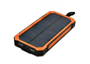 China 8000mAh Solar Mobile Power Bank , Mobile Solar Battery Charger For Phone on sale