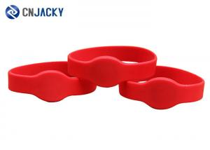 China Customizable Adjustable RFID Silicone Wristband NFC NTAG213 For Swimming Pool on sale