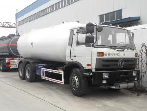 China 20000 Liter 10 Ton LPG Gas Tanker Truck Rigid Bobtail Truck With Rochester Level Gauge LC Flowmeter on sale