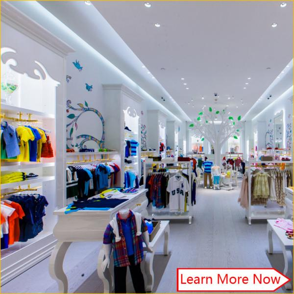 Customized Nice Design Fashion White Wooden Kids Clothing Store Interior Design Kids Baby Shop Design Decoration For Sale Child Clothing Display Furniture Manufacturer From China 105939249