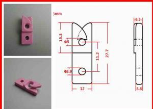 China Kamtai Alumina Ceramic Eyelet Wire Guide for Winding / Textile >3.65g/cm3 on sale