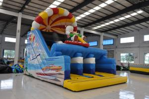 China Cute Lovely Bear Inflatable Dry Slide High Durability Fire - Retardant on sale