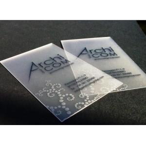 China Custom 85.5 X 54mm PVC business card membership card printing on sale