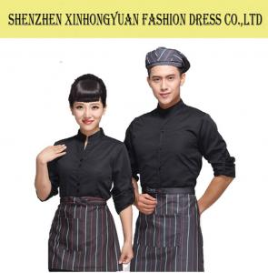 China Custom Hotel Staff Uniforms / Unisex Hotel Waiter Uniform / Bar Staff Uniforms on sale