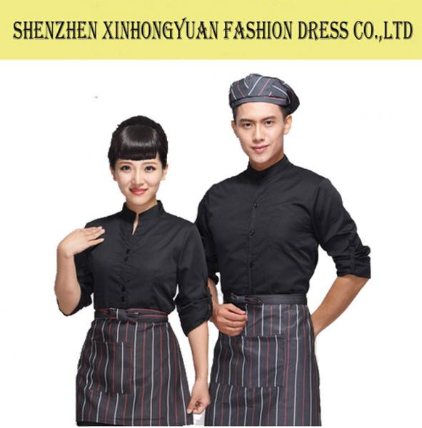 1abaad07684 Custom Hotel Staff Uniforms   Unisex Hotel Waiter Uniform   Bar Staff  Uniforms Images