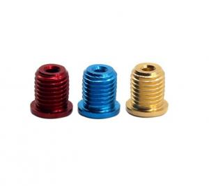 Automotive Closed Locking Wheel Nuts Bolts Titanium Material With 5