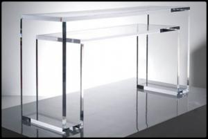 China Acrylic Coffee Table,Rectangle Plexiglass Console Table,Bend Perspex Coffee Table on sale