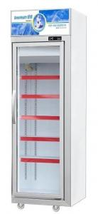 China Supermarket Commercial Upright Meat Display Freezer For Frozen Food With Glass Door on sale