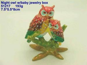 China Night Owl W/Baby Jewelry Box on sale