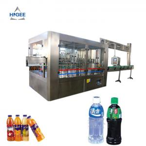 China fruit juice bottling machine rotary liquid filling machine monoblock filling and capping machine 3 in 1 water filling on sale