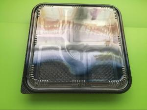China Black / White Color Plastic Packaging Products PP Microwavable Food Container on sale