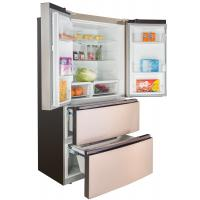 China Home Appliance Four Doors French Fridge Freezer Electronic Control With LCD Touch Key on sale