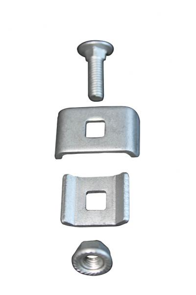 Wire mesh cable tay fasteners for attaching an electrical bonding ...