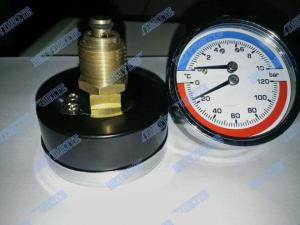 China High accuracy pressure gauge thermometer , stainless steel pressure gauge on sale
