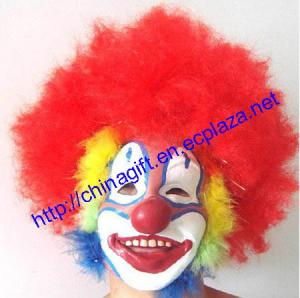 China Halloween Costume Fancy Dress Afro Wig Clown Mask on sale