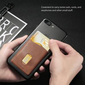 China Leather 3M Adhesives Card Sticker Pocket Universal Credit Card Wallet Case For iPhone X 8 Samsung Women Men Phone Pouch on sale