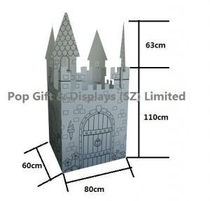 China Children Intelligence Toys Cardboard Castle  / Educational DIY Cardboard Playhouse on sale