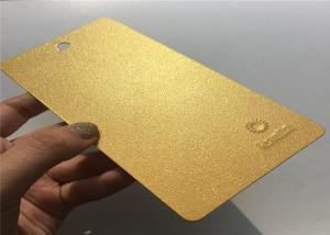 China Gold Shinny Metallic Powder Coat , Energy Saving Industrial Powder Coating on sale