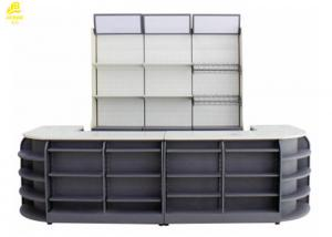 China 3400x600x2100mm Supermarket Checkout Stands?, CR Steel Modern Retail Checkout Counters on sale