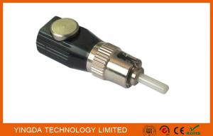 China Metal Optical Fiber Adapters , Optic Bare Fiber Adapter ST FC LC ST Round on sale