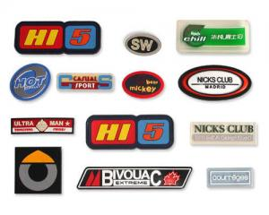 China Garment label rubber patches rubber material soft rubber eco-friendly PVC rubber label silicone label logo customized on sale