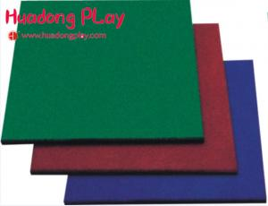China Colorful Gym Rubber Playground Mats Anti - Static  50*50 High Sound Absorbtion on sale