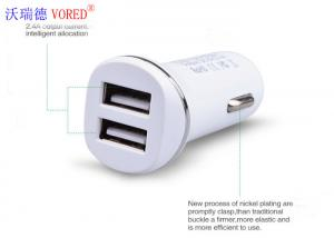 China RoHS Universal USB Car Phone Charger, QC 3.0 USB Dual Port Car Charger on sale
