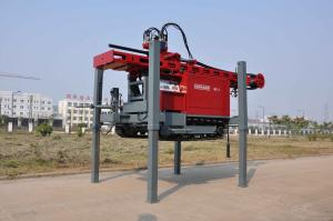 China DTH Drilling Water Well Drilling Rig Mounted on Truck With Maximum hoist capacity 20 tone on sale