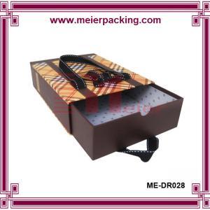 China Caja de papel del cajón con la caja de papel ME-DR028 de la cinta del cajón de seda de la diapositiva on sale
